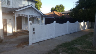 Feature Picket Fence in Box Hill South