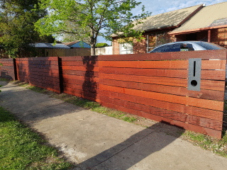 Merbau Slat Fence in Bellfield