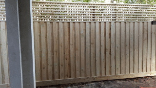 Treated Pine Paling Fence with Lattice in Hawthorn