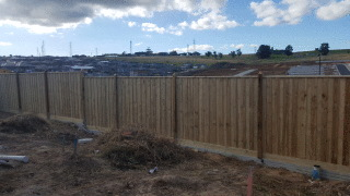 Feature Paling Fence in Croydon