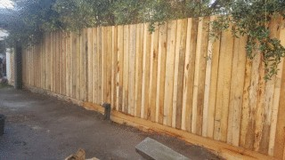 Hardwood Paling Fence in Carnegie